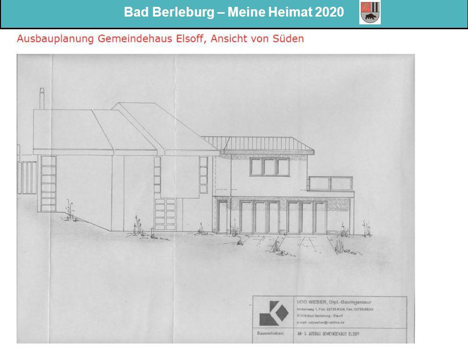 Bad Berleburg – Meine Heimat 2020 Meinungsumfrage zur Dorfentwicklung 2020 Wesentliche Treffpunkte 2013: Wesentliche Stärken 2013: Wesentliche Herausforderung en der Zukunft: