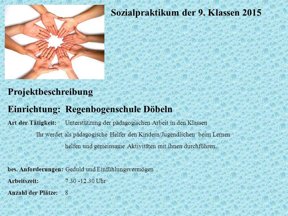Sozialpraktikum der 9.