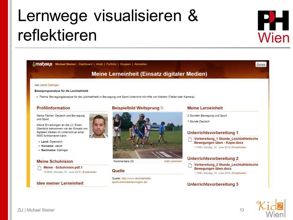 Lernwege visualisieren & reflektieren ZLI | Michael Steiner13