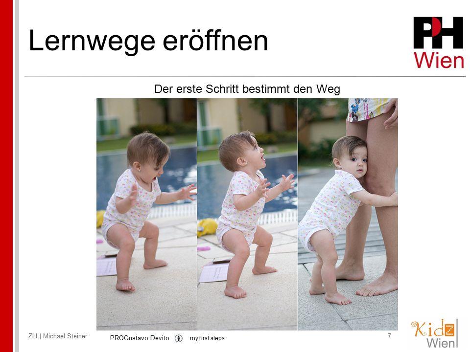 ZLI | Michael Steiner7 Der erste Schritt bestimmt den Weg PROGustavo Devito my first steps
