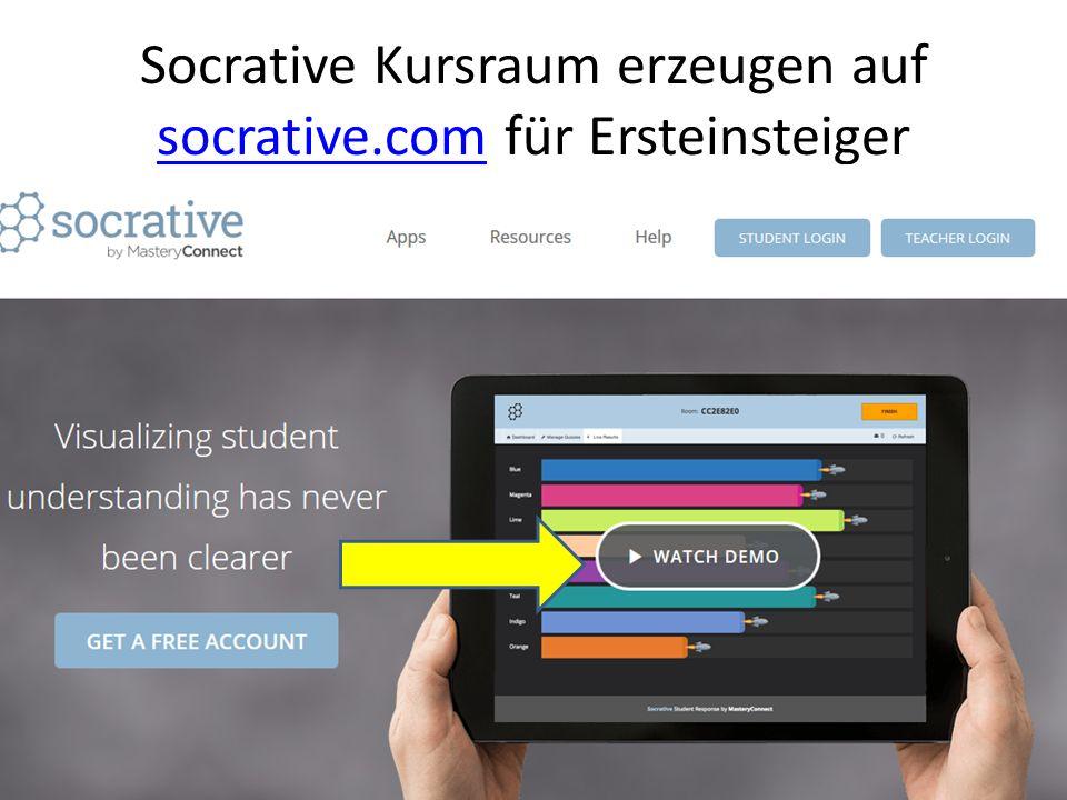 Socrative Kursraum erzeugen auf socrative.com für Ersteinsteiger socrative.com