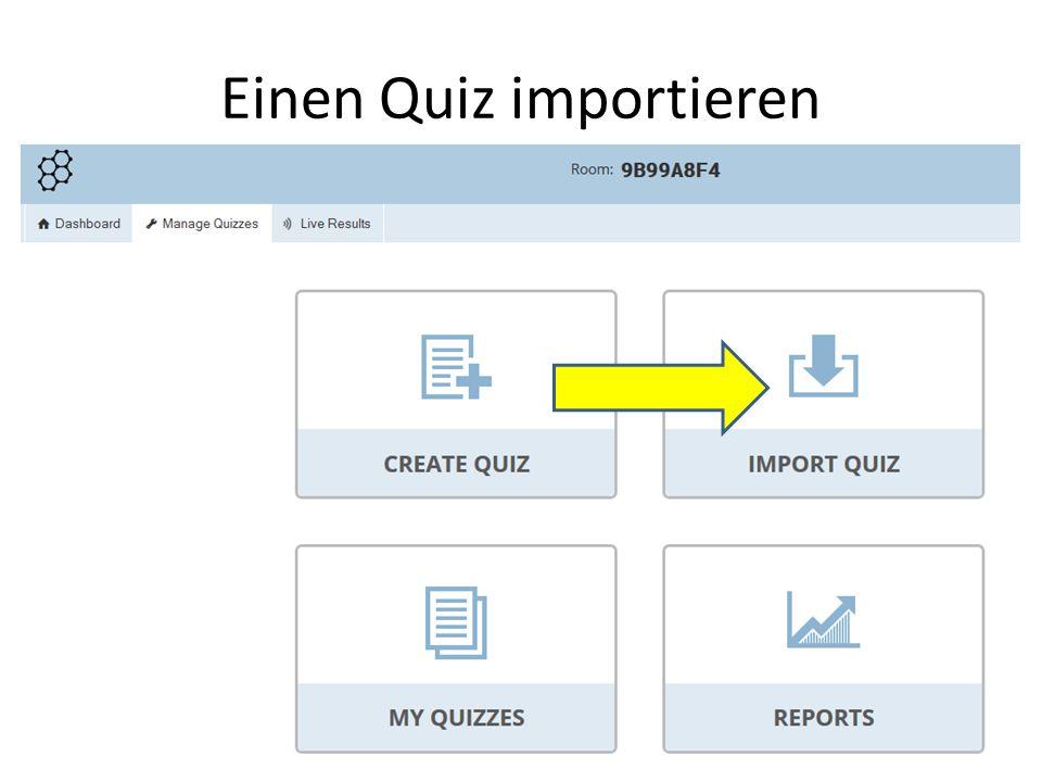 Einen Quiz importieren