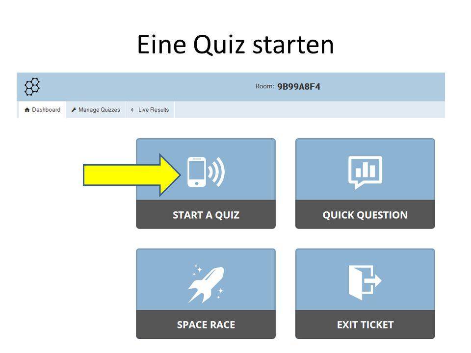 Eine Quiz starten