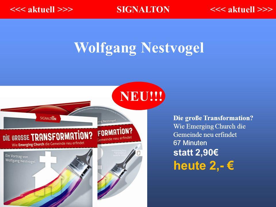 Wolfgang Nestvogel Die große Transformation.