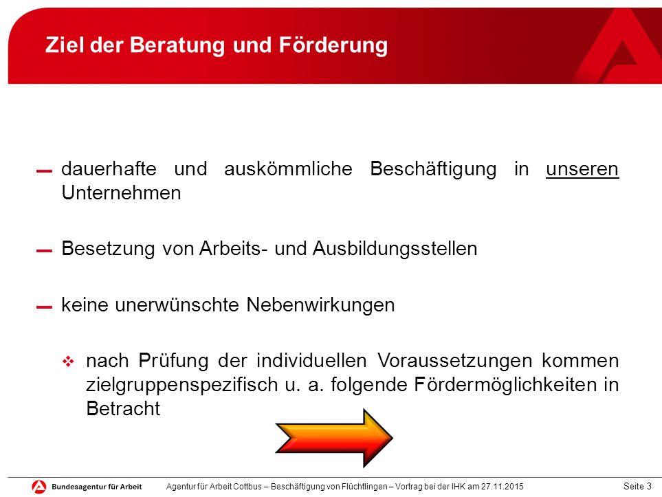 Seite 4 Fördermöglichkeiten BAMF, Agentur für Arbeit ▬ Sprachangebot o Integrationskurs (v.