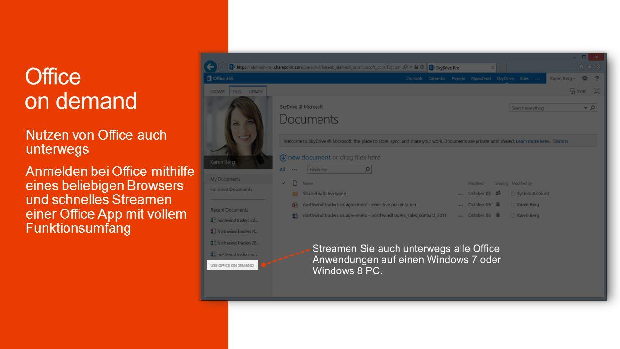 Streamen Sie auch unterwegs alle Office Anwendungen auf einen Windows 7 oder Windows 8 PC.