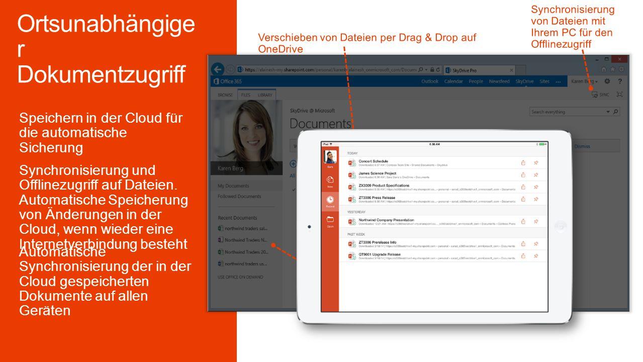 Verwalten Sie alle Dokumente eines Projekts mit der SharePoint Ansicht aus Outlook.
