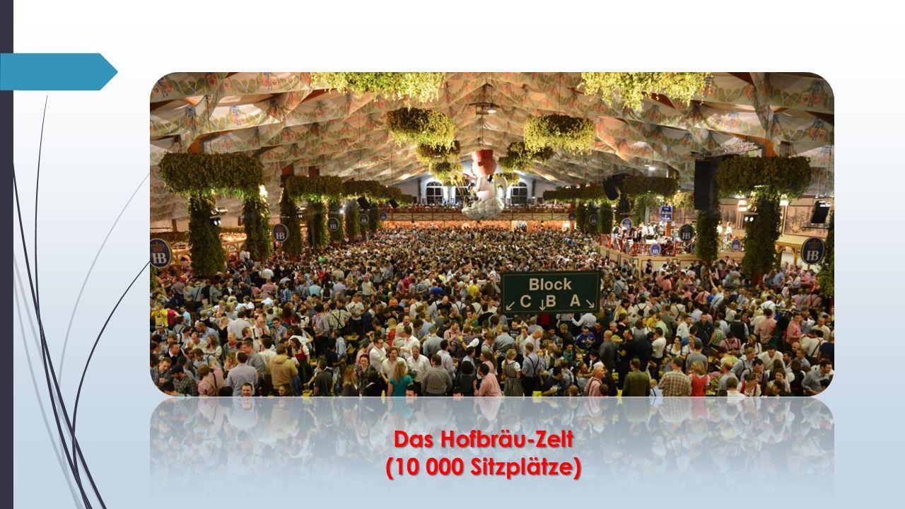 Das Hofbräu-Zelt (10 000 Sitzplätze)