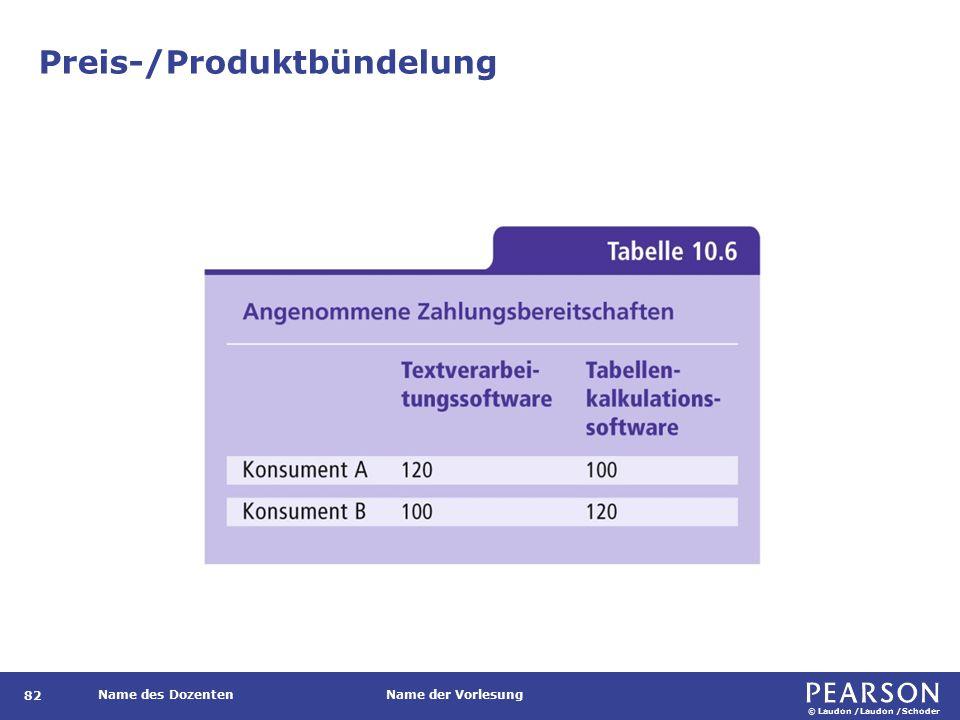 © Laudon /Laudon /Schoder Name des DozentenName der Vorlesung Preis-/Produktbündelung 82