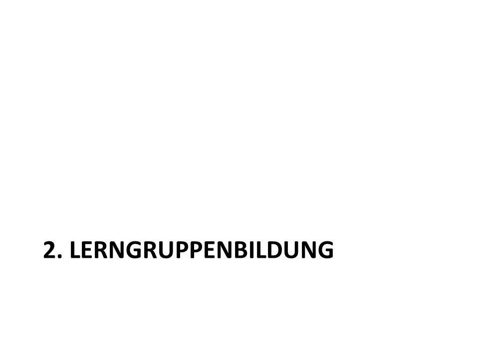 2. LERNGRUPPENBILDUNG