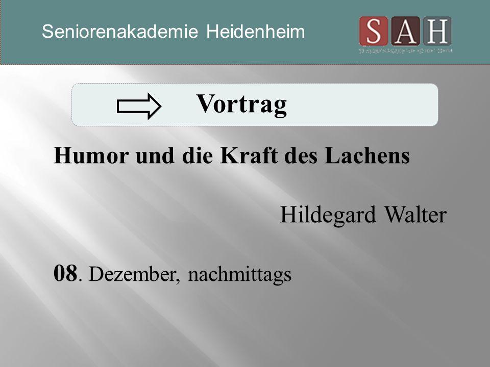 Vortrag Humor und die Kraft des Lachens Hildegard Walter 08.