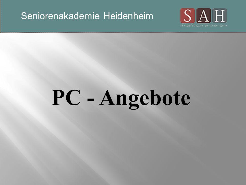 PC - Angebote Seniorenakademie Heidenheim