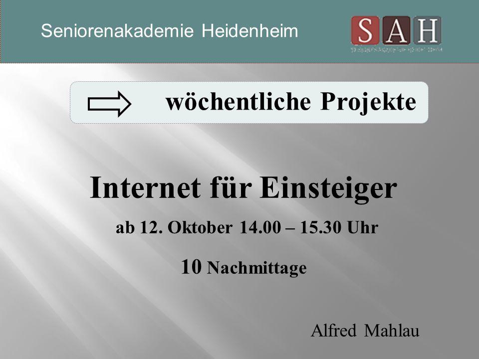 Internet für Einsteiger ab 12.