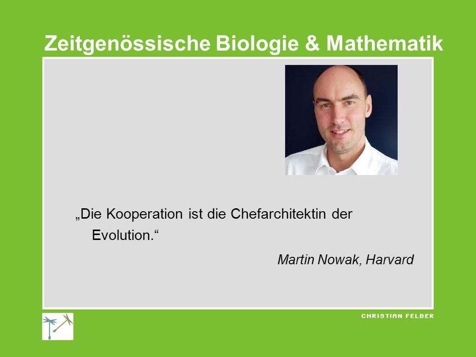 """""""Die Kooperation ist die Chefarchitektin der Evolution."""" Martin Nowak, Harvard Zeitgenössische Biologie & Mathematik"""