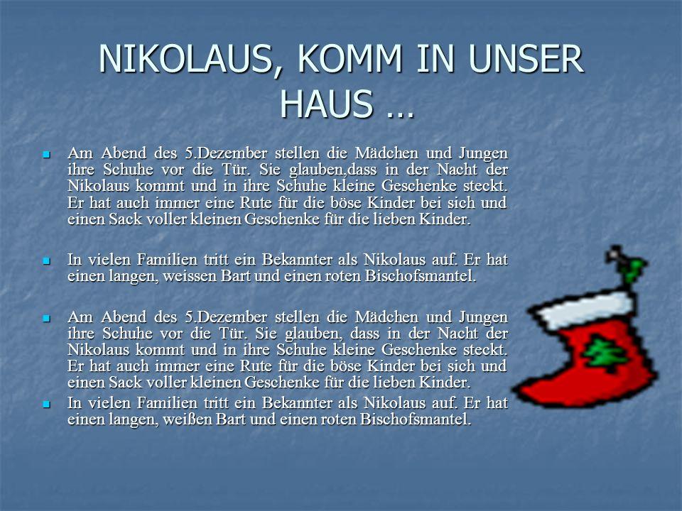 FROHE WEIHNACHTEN.Weihnachten nennen die Deutschen das Fest aller Feste.