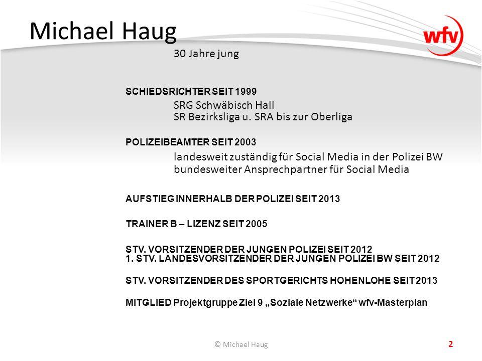 Michael Haug 30 Jahre jung SCHIEDSRICHTER SEIT 1999 SRG Schwäbisch Hall SR Bezirksliga u.