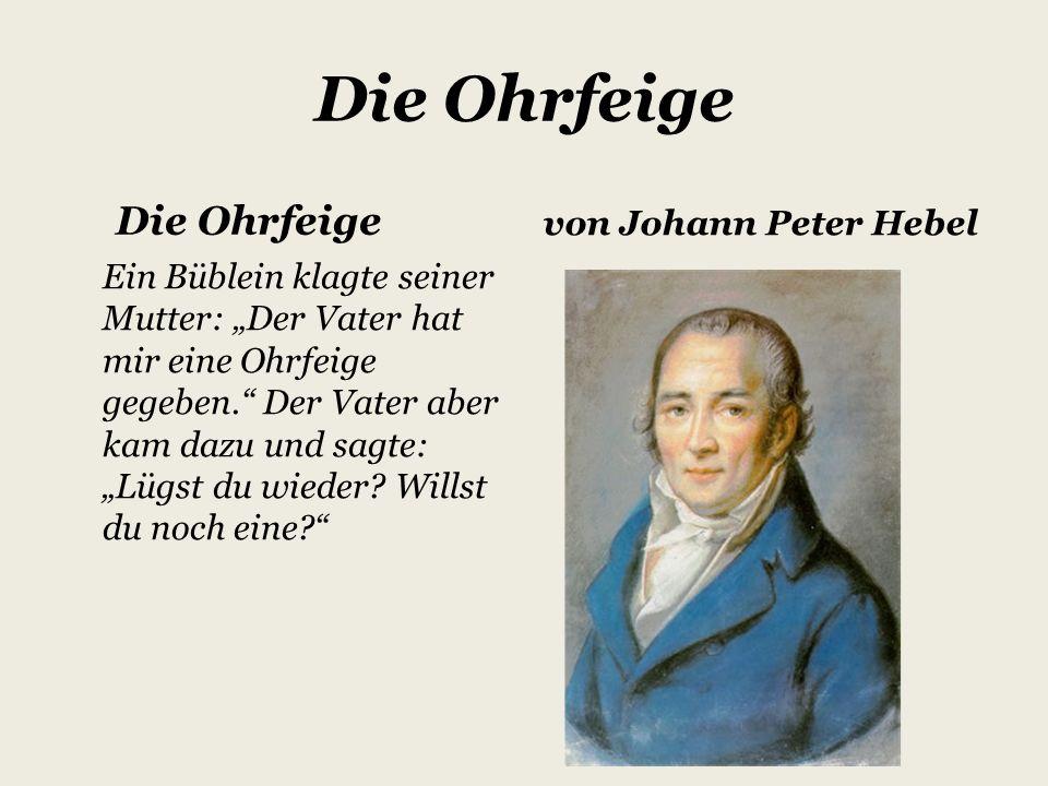 Johann Peter Hebel ein Schriftsteller aus Basel hatte am 10.
