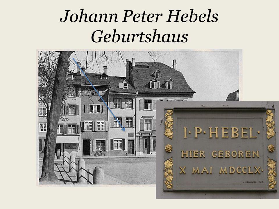 Johann Peter Hebel und seine Kalendergeschichten
