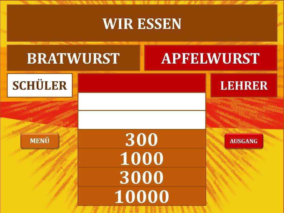 LEHRERSCHÜLER MAGST DU APFELFISCHBRATFISCH AUSGANG MENÜ