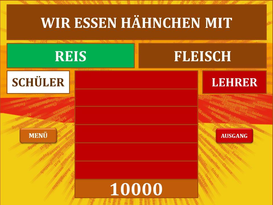 10000 LEHRERSCHÜLER WIR ESSEN HÄHNCHEN MIT REISFLEISCH AUSGANG MENÜ