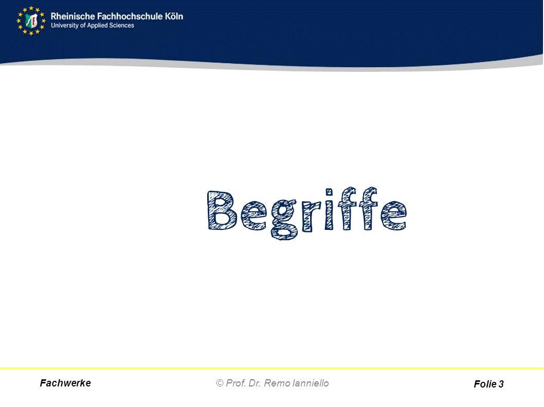 Fachwerke© Prof. Dr. Remo Ianniello Begriffe Folie 3