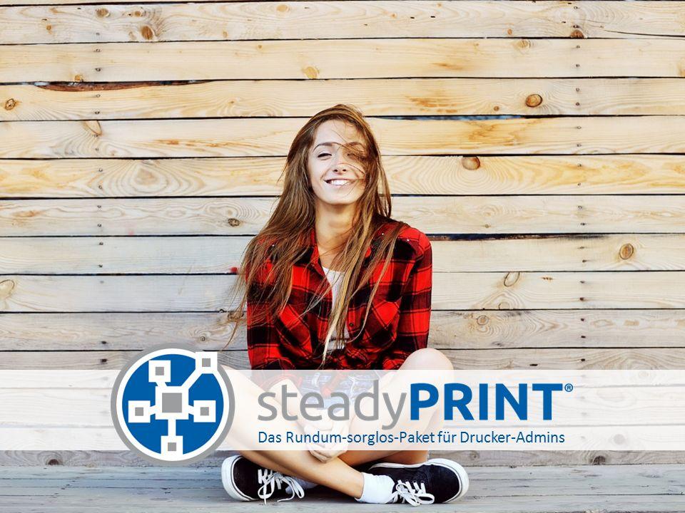 steadyPRINT Referenzkunden Lesen Sie unsere Success Stories auf www.steadyprint.com 2 Druckserver 200 Drucker 200 Benutzer 1 Druckserver 60 Drucker 180 Benutzer 40 Druckserver 500 Drucker 2.200 Benutzer 3 Druckserver 900 Drucker 1.300 Benutzer 1 Druckserver 50 Drucker 100 Benutzer