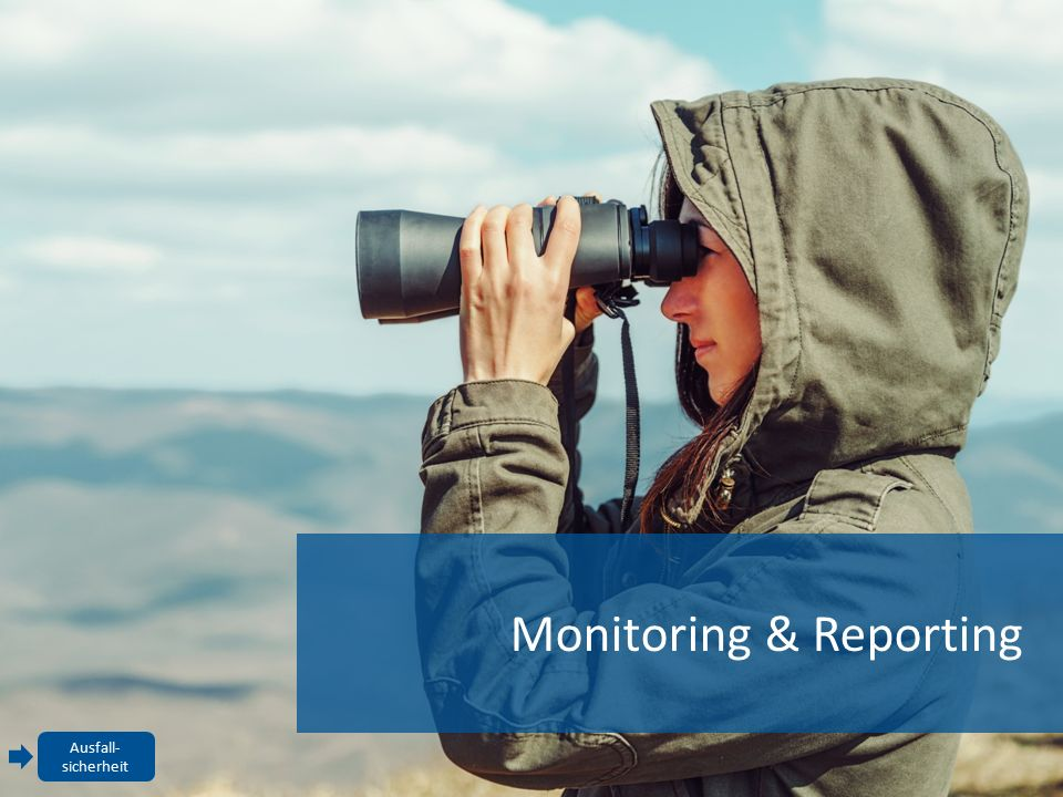 Monitoring & Reporting Ausfall- sicherheit