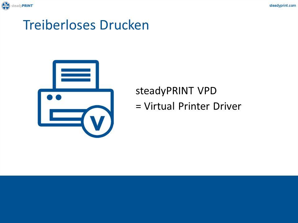 steadyPRINT VPD = Virtual Printer Driver Treiberloses Drucken