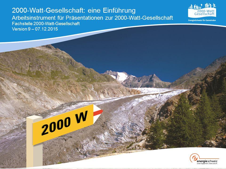 2000-Watt-Gesellschaft: eine Einführung Arbeitsinstrument für Präsentationen zur 2000-Watt-Gesellschaft Fachstelle 2000-Watt-Gesellschaft Version 9 –