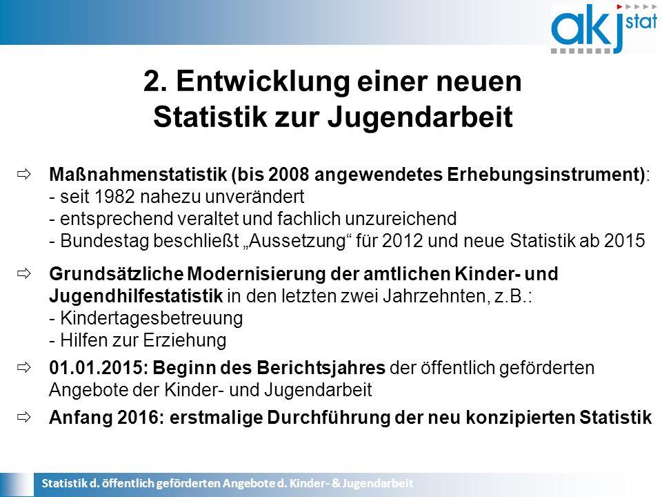 Statistik d. öffentlich geförderten Angebote d.