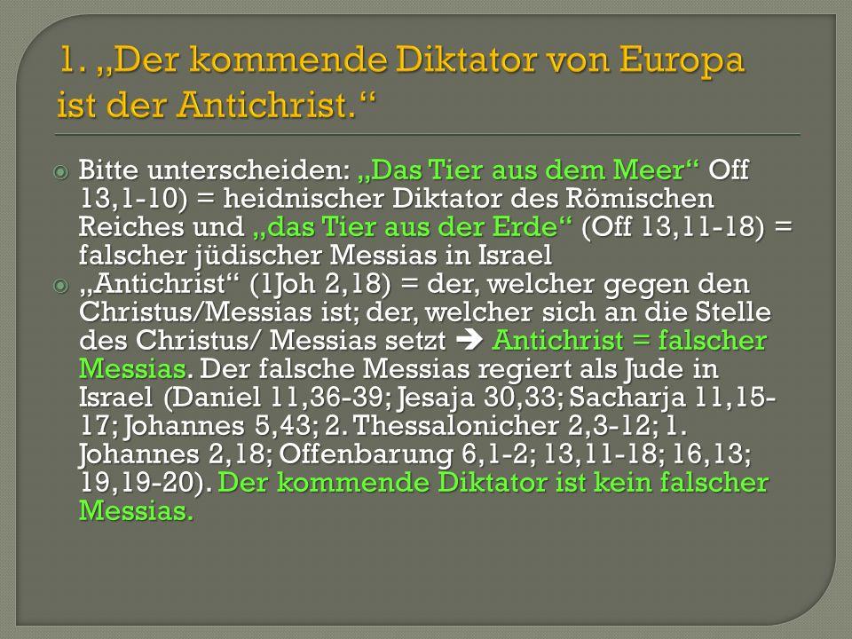  Der kommende Diktator und seine 10 höchsten Minister werden die Hure Babylon vernichten (Off 17,17-17).