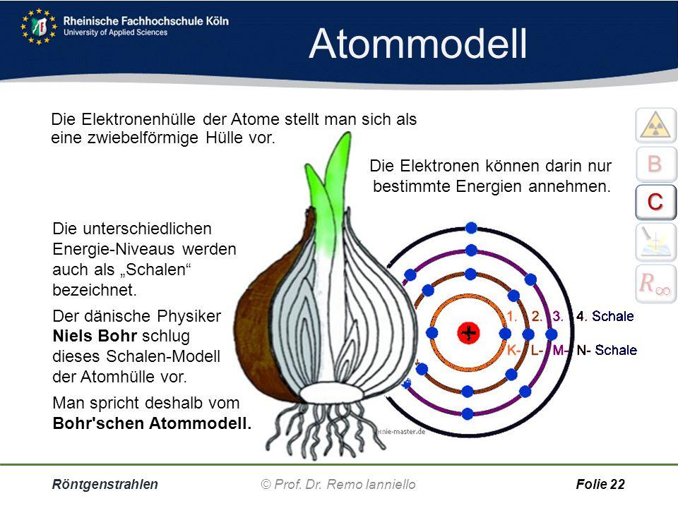 Röntgenstrahlen© Prof. Dr. Remo IannielloFolie 21 Charakteristische Strahlung