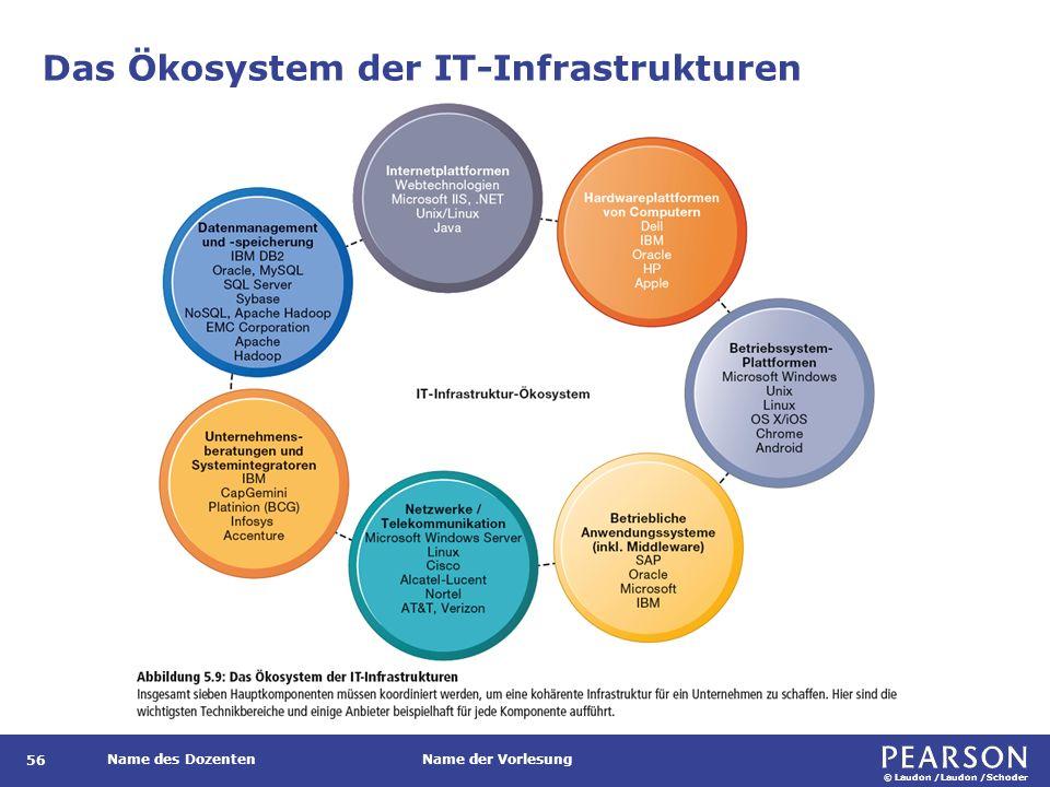 © Laudon /Laudon /Schoder Name des DozentenName der Vorlesung Das Ökosystem der IT-Infrastrukturen 56