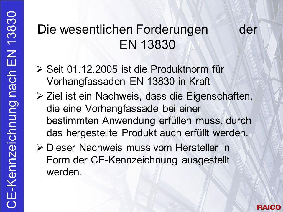 Anforderungen 4.17 Widerstand gegen dynamische Horizontallasten: Die Vorhangfassade muss dynamische Horizontallasten = Holmlast in Höhe des Brüstungsriegels nach EN 1991-1-1 aufnehmen.