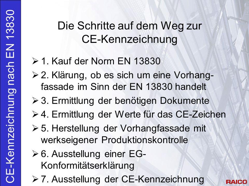 Anforderungen 4.3 Stoßfestigkeit Erstprüfung EN 12600 und Klassifizierung nach prEN 14019 Pendelschlag auf Pfosten, Riegel und Glas Praxis: Angabe der Stoßfestigkeit nach Prüfberichten des Systemherstellers.
