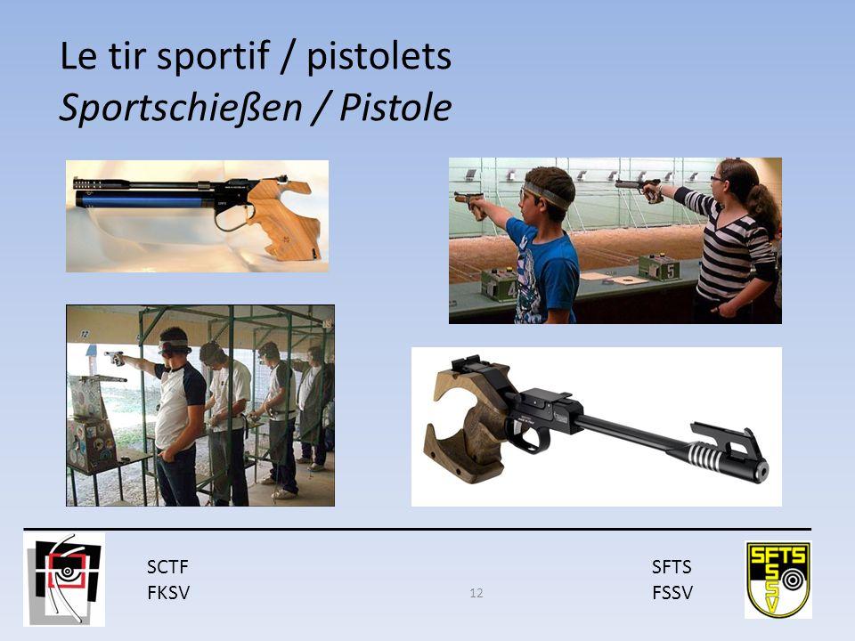SCTF FKSV SFTS FSSV Le tir sportif / pistolets Sportschießen / Pistole 12