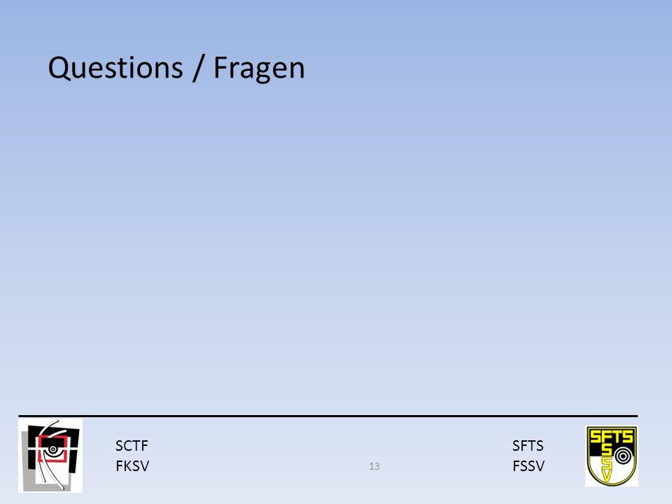 SCTF FKSV SFTS FSSV Questions / Fragen 13