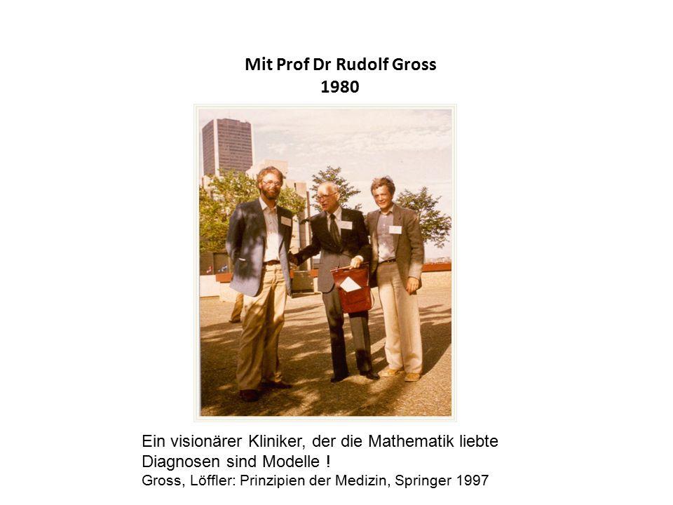 Mit Prof Dr Rudolf Gross 1980 Ein visionärer Kliniker, der die Mathematik liebte Diagnosen sind Modelle .