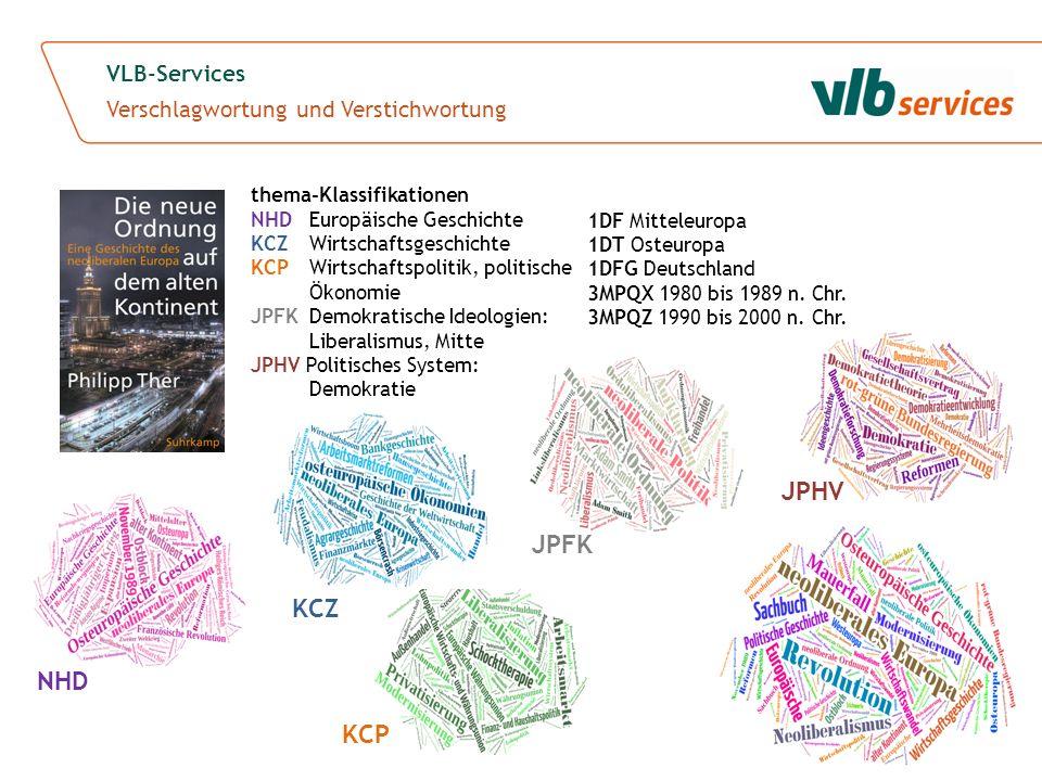 KCP KCZ VLB-Services Verschlagwortung und Verstichwortung thema-Klassifikationen NHD Europäische Geschichte KCZ Wirtschaftsgeschichte KCP Wirtschaftsp