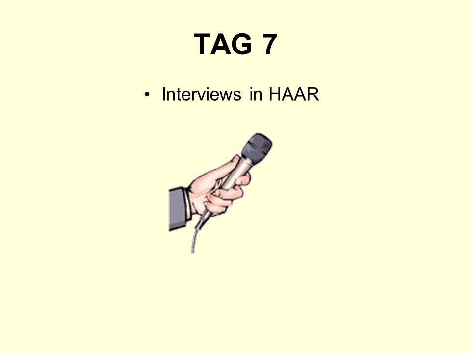 TAG 7 Interviews in HAAR