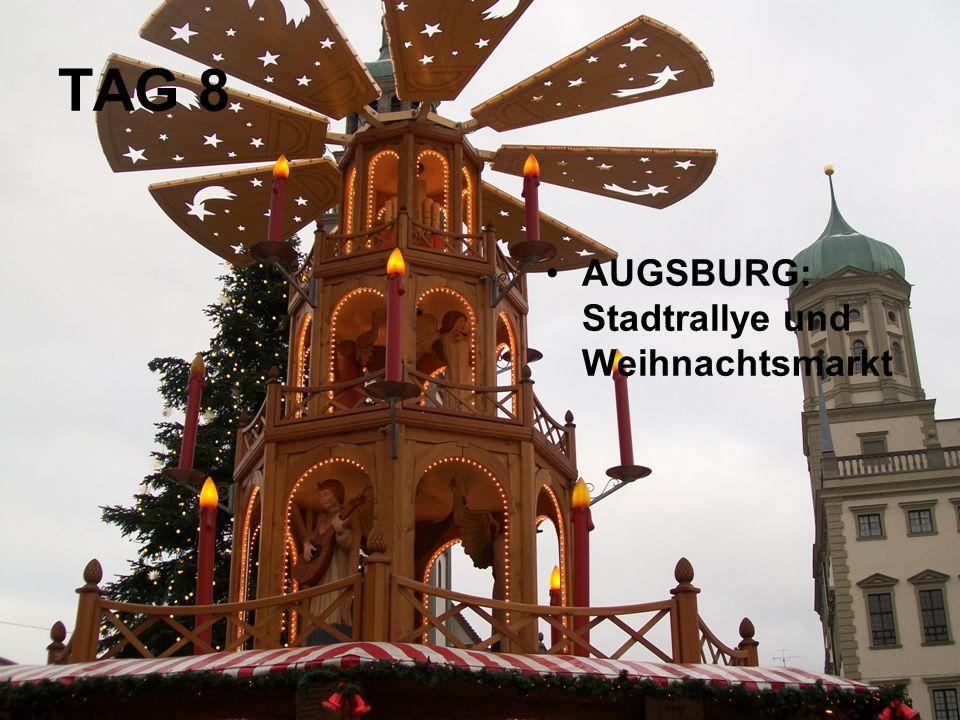 AUGSBURG: Stadtrallye und Weihnachtsmarkt TAG 8