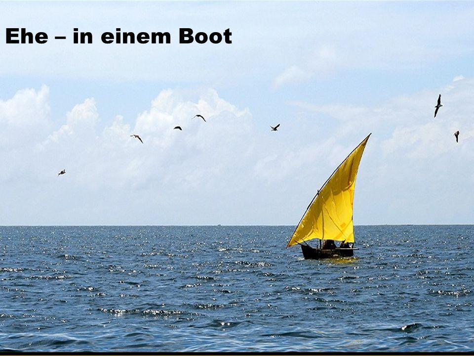 Ehe – in einem Boot