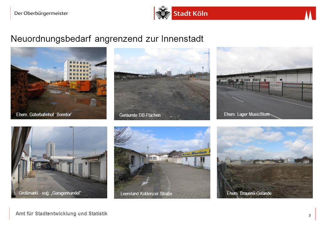 33 Amt für Stadtentwicklung und Statistik Neuordnungsbedarf angrenzend zur Innenstadt Ehem. Güterbahnhof 'Bonntor' Geräumte DB-Flächen Ehem. Lager Mus