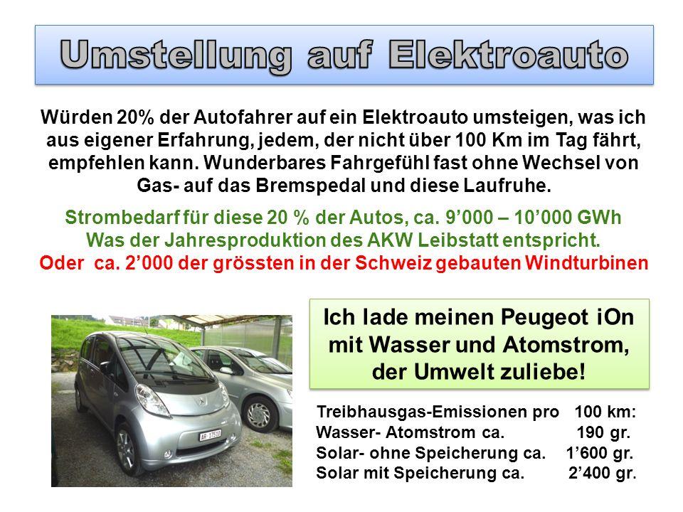 Würden 20% der Autofahrer auf ein Elektroauto umsteigen, was ich aus eigener Erfahrung, jedem, der nicht über 100 Km im Tag fährt, empfehlen kann. Wun