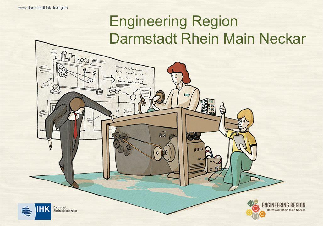 www.darmstadt.ihk.de/region Stark im Bereich Engineering Logistik Über 2.000 Unternehmen alleine im Kerngebiet der Engineering Region Rund 19.000 Beschäftigte Weit überdurchschnittliche Bedeutung der Branche im deutschlandweiten Vergleich Seite 12