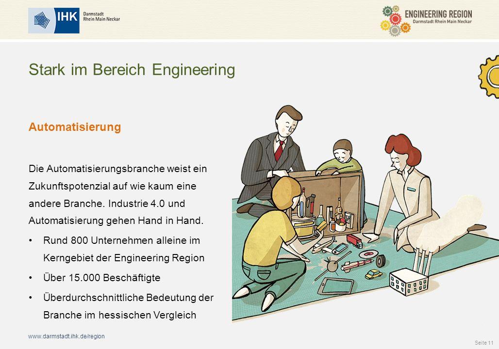 www.darmstadt.ihk.de/region Stark im Bereich Engineering Automatisierung Die Automatisierungsbranche weist ein Zukunftspotenzial auf wie kaum eine andere Branche.