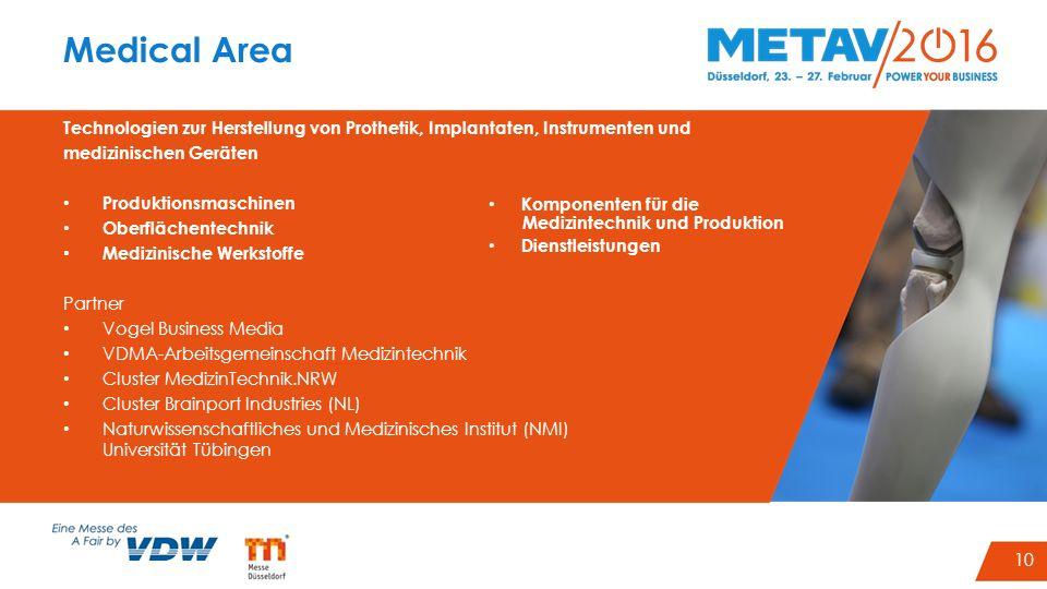 10 Medical Area Technologien zur Herstellung von Prothetik, Implantaten, Instrumenten und medizinischen Geräten Produktionsmaschinen Oberflächentechni