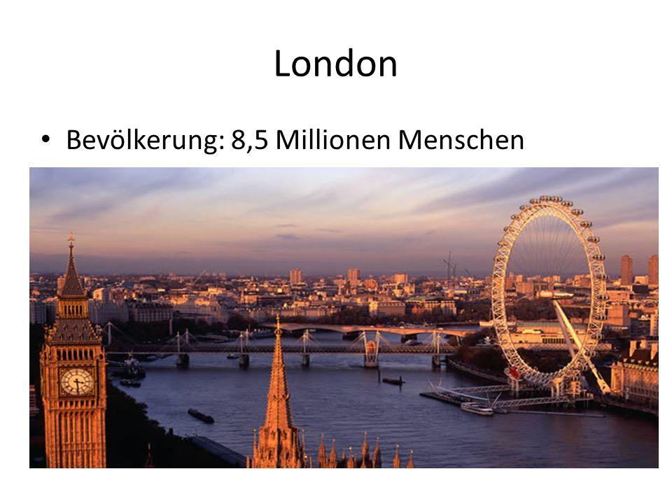 London Bevölkerung: 8,5 Millionen Menschen