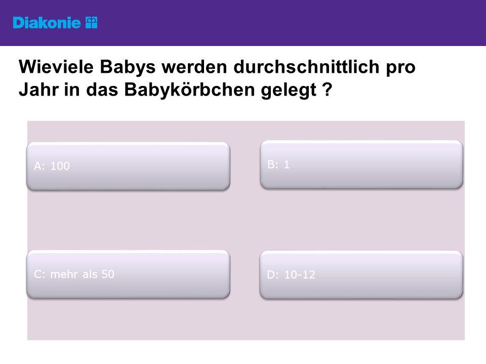Wieviele Babys werden durchschnittlich pro Jahr in das Babykörbchen gelegt .