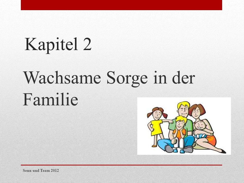 Kapitel 2 Wachsame Sorge in der Familie Senn und Team 2012